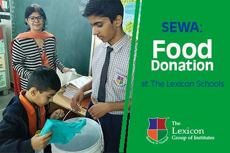 SEWA- Food Donation at The Lexicon Schools