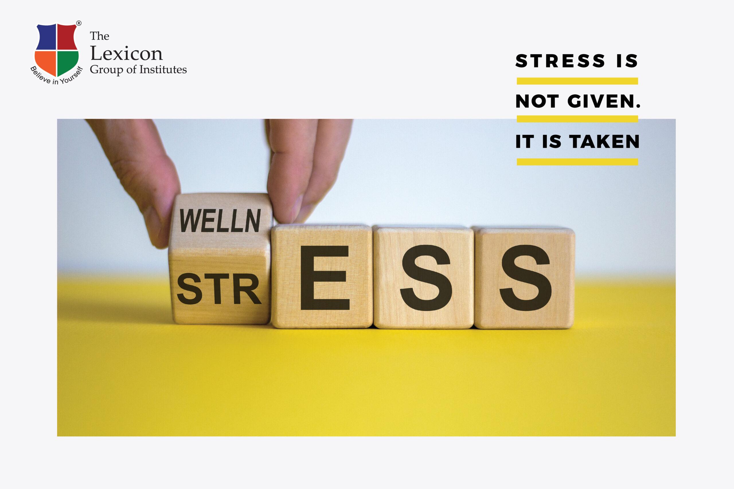 Stress is not given-It is taken